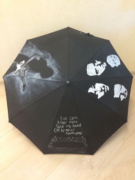 """Зонты ручной работы. Ярмарка Мастеров - ручная работа. Купить Зонт """"Металлика"""". Handmade. Рок-группа, зонт с ручной росписью"""