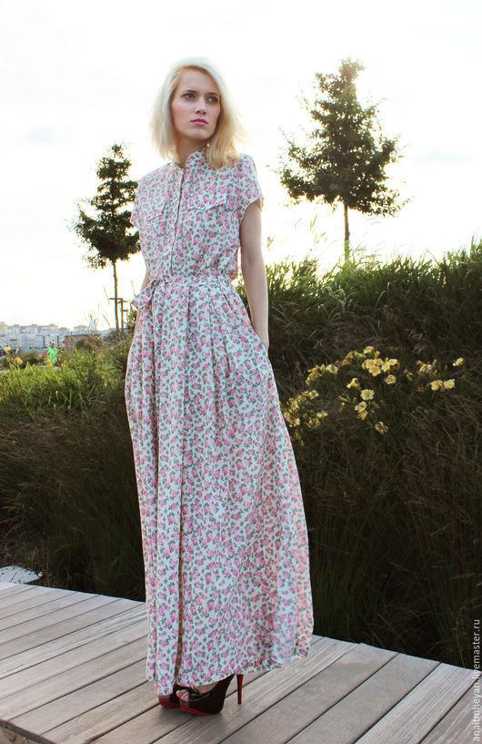 """Большие размеры ручной работы. Ярмарка Мастеров - ручная работа. Купить Платье """"GLADE"""". Handmade. Платье летнее, Платье в цветочек"""