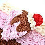Работы для детей, ручной работы. Ярмарка Мастеров - ручная работа Мороженое кокон + шапочка для фотосессий новорожденной, 100% хлопок. Handmade.