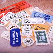 Канцелярские товары handmade. Livemaster - original item Vintage decorative stickers in Notepad