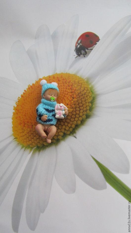 """Коллекционные куклы ручной работы. Ярмарка Мастеров - ручная работа. Купить Малыш. """"Сладкие сны"""".. Handmade. Малыш, куколка, миниатюра"""
