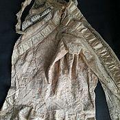 Материалы для творчества ручной работы. Ярмарка Мастеров - ручная работа Антикварная кружевная женская блуза. Handmade.