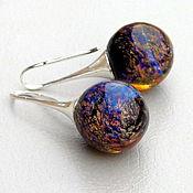 Украшения handmade. Livemaster - original item earrings lampwork. Handmade.