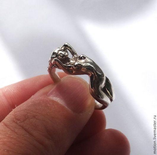 Кольца ручной работы. Ярмарка Мастеров - ручная работа. Купить Кольцо серебро Обнаженная Девушка серебро 925 пробы размер 17 18 19 20. Handmade.