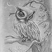 Картины и панно ручной работы. Ярмарка Мастеров - ручная работа Птицы. Графика. Handmade.