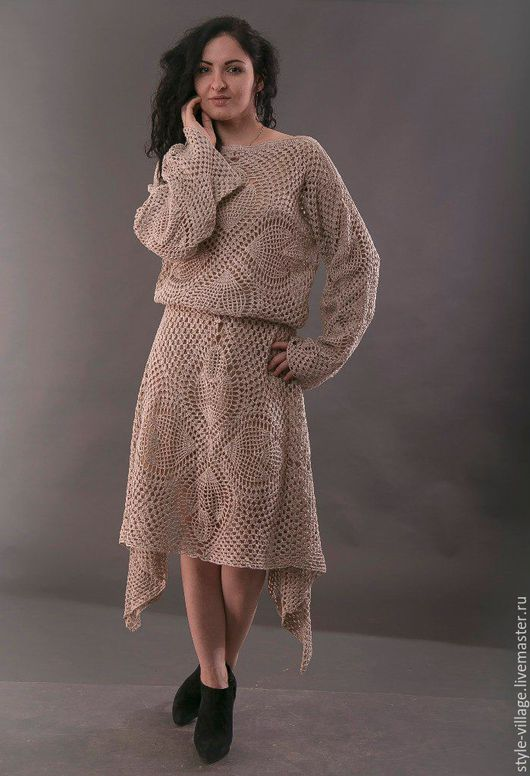 """Платья ручной работы. Ярмарка Мастеров - ручная работа. Купить Платье """" Вечность"""". Handmade. Серый, платье"""