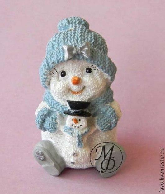 Другие виды рукоделия ручной работы. Ярмарка Мастеров - ручная работа. Купить Силиконовая форма Снеговик с бантиком. Handmade. Розовый