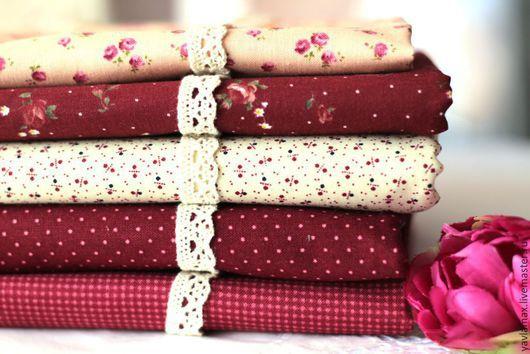Шитье ручной работы. Ярмарка Мастеров - ручная работа. Купить Набор тканей Винно-Красный. Handmade. Ткань для рукоделия, ткань