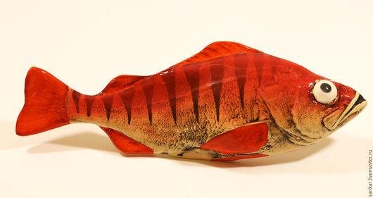 Керамическая рыба  Окунь