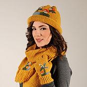 Аксессуары ручной работы. Ярмарка Мастеров - ручная работа Sirogojno Style комплект: шапки, шарфы, перчатки Модель 454. Handmade.