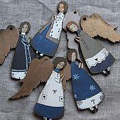 Подарки к праздникам ручной работы. Ярмарка Мастеров - ручная работа Ангелы в фиолетовых тонах. Handmade.
