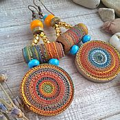 Украшения handmade. Livemaster - original item Earrings made of polymer clay Africa. Handmade.