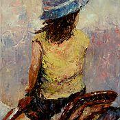 Картины и панно handmade. Livemaster - original item Oil painting Young rider. Handmade.