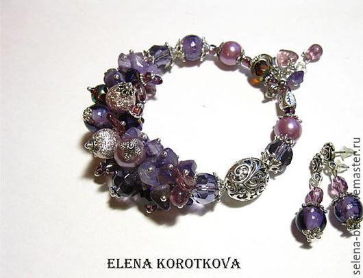 браслет красивый,  браслет объемный,   браслет пышный,   браслет большой,   браслет на руку ,фиолетовый браслет,   браслет на вечеринку,  браслет яркий,   браслеты цена,   браслет на отдых
