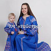 Одежда ручной работы. Ярмарка Мастеров - ручная работа Мама и дочка - вышитые парные платья в бохо стиле,этно,фольк. Handmade.