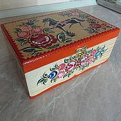 Для дома и интерьера handmade. Livemaster - original item Box wooden hand painted velvet and. Handmade.
