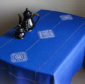 Для дома и интерьера handmade. Livemaster - original item Tablecloth 3 Kuban blue( towels optional). Handmade.