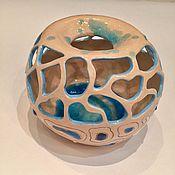 """Для дома и интерьера ручной работы. Ярмарка Мастеров - ручная работа """"Морская раковина"""" ваза керамическая ручной работы. Handmade."""