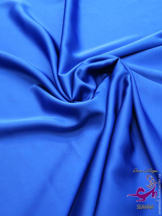 """Шитье ручной работы. Ярмарка Мастеров - ручная работа. Купить Шелк искуственный очень качественный """"Синий"""" в разных цветах. Handmade."""