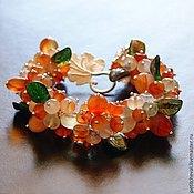 """Украшения ручной работы. Ярмарка Мастеров - ручная работа Браслет """"Яркие ягоды"""", пренит, агат, сердолик. Handmade."""