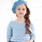 Работы для детей, ручной работы. Ярмарка Мастеров - ручная работа Вязаный пуловер голубого цвета. Handmade.
