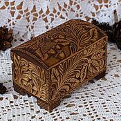 """Для дома и интерьера ручной работы. Ярмарка Мастеров - ручная работа """"Лесной орех"""" шкатулка-сундучок.Кудринская резьба.Резьба по дереву. Handmade."""