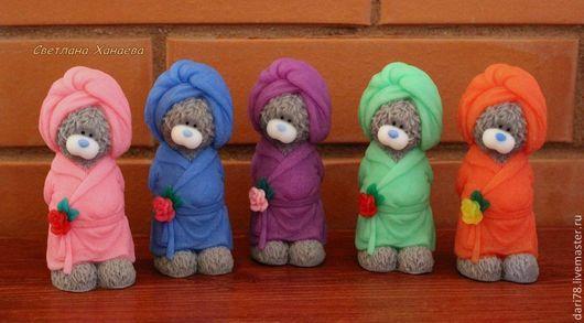 """Мыло ручной работы. Ярмарка Мастеров - ручная работа. Купить Мыло ручной работы """"Мишка Тедди в халате"""". Handmade."""