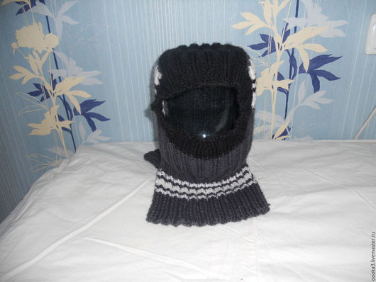 Шапки ручной работы. Ярмарка Мастеров - ручная работа. Купить Вязаная шапка-шлем для мальчика ручная работа. Handmade.