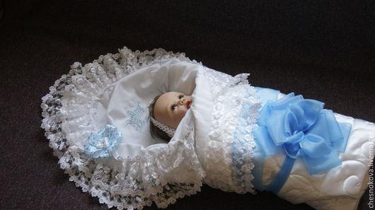 Для новорожденного.На выписку для новорожденных.Ярмарка Мастеров ручная работа купить.Конверт на выписку.Одеяло для новорожденных