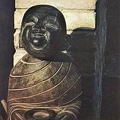 Картины и панно handmade. Livemaster - original item Picture: Little Buddha drinking tea.. Handmade.