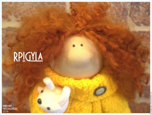 Коллекционные куклы ручной работы. Ярмарка Мастеров - ручная работа. Купить Кукла Рыжуля. Handmade. Желтый, кукла интерьерная, рыжий