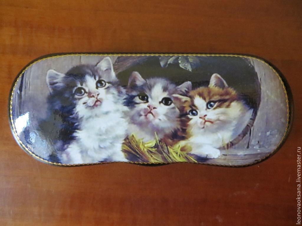 "очечник ""Три котенка"", Сумки и аксессуары, Москва, Фото №1"