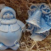 Подарки к праздникам handmade. Livemaster - original item Christmas gift set Snowman and Bells. Handmade.