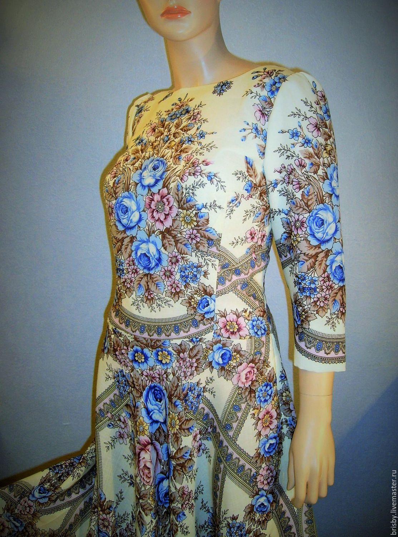 Dress pavlogoradsky scarves 'Aroma of summer' 2, Dresses, Moscow,  Фото №1