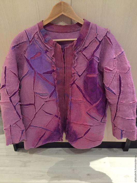 Верхняя одежда ручной работы. Ярмарка Мастеров - ручная работа. Купить Куртка валяная весенне-летняя. Handmade. Розовый