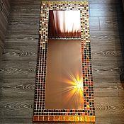 """Для дома и интерьера ручной работы. Ярмарка Мастеров - ручная работа Большое зеркало в мозаике """"Градиент"""". Handmade."""
