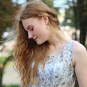 Одежда ручной работы. Ярмарка Мастеров - ручная работа Платье из шёлка Персиковое короткое платье. Handmade.