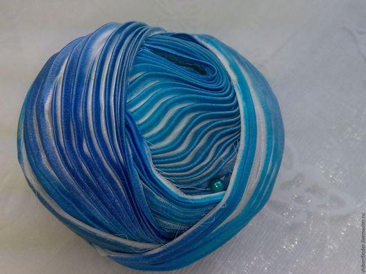 Для украшений ручной работы. Ярмарка Мастеров - ручная работа. Купить Ленты Шибори Silk Ribbons Shibori № 5 Голубая лагуна. Handmade.