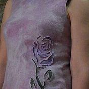 """Одежда ручной работы. Ярмарка Мастеров - ручная работа Валяный топ """"Королева цветов"""". Handmade."""