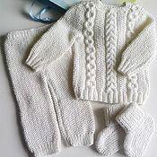 Одежда детская handmade. Livemaster - original item Knitted suit for kids. Handmade.