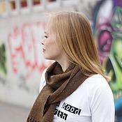 Аксессуары ручной работы. Ярмарка Мастеров - ручная работа Домотканый шарф Brown. Handmade.