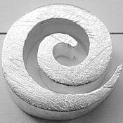 Материалы для творчества ручной работы. Ярмарка Мастеров - ручная работа 07003 - Дизайнер улитка из 925 серебра. Handmade.
