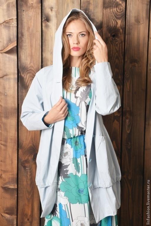 Outer Clothing handmade. Livemaster - handmade. Buy Jacket Clara 4280786.Blue, coat jacket, coat buttoned