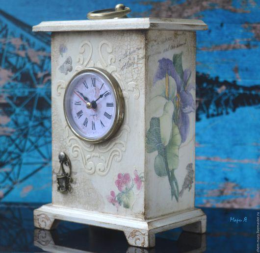 Часы настольные каминные в стиле Прованс,  часы шкатулка, купить настольные часы  в москве, каминные часы купить, часы настольные недорого, купить каминные часы, купить белые  настольные часы