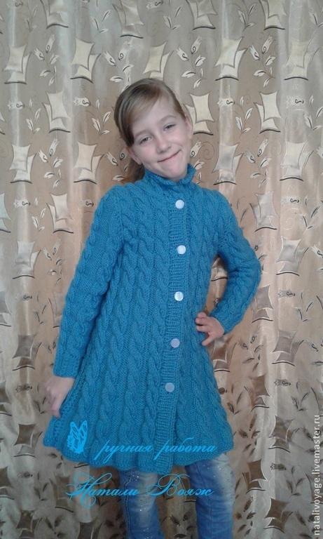 """Одежда для девочек, ручной работы. Ярмарка Мастеров - ручная работа. Купить пальто детское """"Евгения"""". Handmade. Голубой, детское пальто"""