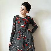 Одежда ручной работы. Ярмарка Мастеров - ручная работа Платье Московские снегири. Handmade.
