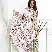 Одежда ручной работы. Ярмарка Мастеров - ручная работа шифоновое платье  вишенки. Handmade.
