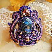 Украшения handmade. Livemaster - original item Soutache bracelet Starry sky Soutache bracelet Purple.. Handmade.