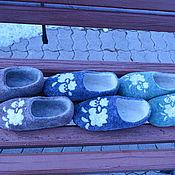 Обувь ручной работы. Ярмарка Мастеров - ручная работа Войлочные тапочки Веселые барашки ). Handmade.