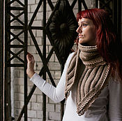 Аксессуары ручной работы. Ярмарка Мастеров - ручная работа Вязаный шарф. Handmade.